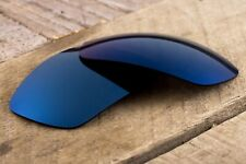 Deep Blue Cobalt Polarized Mirrored Replacement Lenses for Oakley Racing Jacket