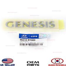 "NAMEPLATE EMBLEM LIFT GATE TRUNK ""GENESIS"" GENUINE GENESIS 2015-2016 86310B1000"