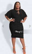 Monif C Nelly Women Plus Size Black Dress 22/24w