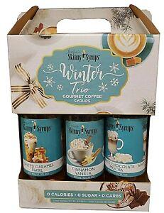 🎄 Jordan's Skinny Syrups Sugar Free Winter Syrup Trio Cinnamon Vanilla, White🎄