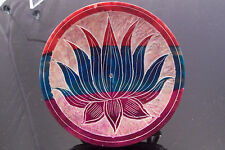 MULTI COLORED STONE DISC LOTUS ASH CATCHER 4INCHES ACROSS BRAND NEW