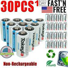 30x 3V Tokeyla Photo Batteries Cr123A Cr123 Lithium Battery Security Camera Lots