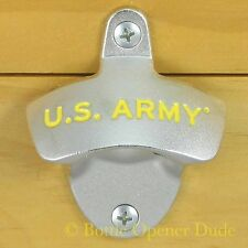 U.S. ARMY Wall Mount Bottle Opener Metal Zinc Alloy Licensed NEW!