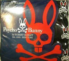 Psycho Bunny Men's Black Superfine Combed Cotton Crew-Neck 3 Pack T-Shirt