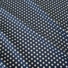 Stoff Meterware Baumwolle Punkte 8mm marine blau weiß gepunktet Tupfen Dots Neu