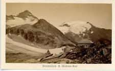 Österreich, Sonnblick & Hohen-Aar Vintage albumen print.  Tirage albuminé  6