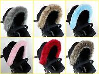 Hood fur trim pram pushchair Baby  accessories universal fit silver cross stokke