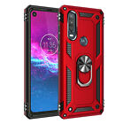 For Motorola One Action/One Vision Shockproof Case Cover+Glass+ Car Phone Holder