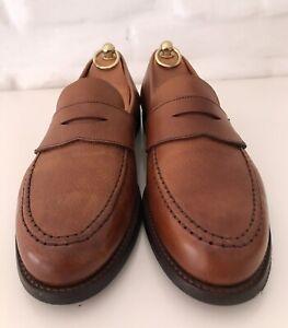 CROCKETT&JONES Harvard 2 Men's Loafers Brown Leather Size 8,5E(US9,5)!