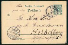Mayfairstamps Germany 1895 Alzey to Heidelberg Postcard wwp_90845
