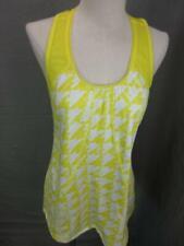 Adidas Size M Womens Yellow Athletic Sleeveless Training Tank Top T927