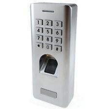 Fingerprint Reader Password Keypad Door Access Control Security Entry Waterproof