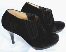 Balenciaga CHELSEA BOOTS BOOTIES BLACK SUEDE PLATFORM HEELS Size 39 UK 6 LOVELY