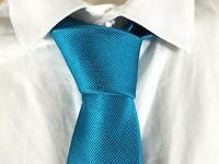 VALEUR 15 € WESTBURY NEUF Superbe cravate turquoise en soie Tie C&A