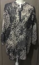 Ladies Size 12 Papaya Leopard Print Top
