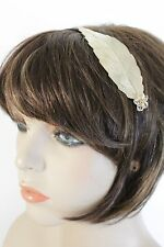 New Women Gold Metal Leaf Head Band Fashion Jewelry Flower Silver Beads Classic