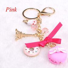 Hot Sweet Cute Candy Beads Macaron Cake Key Chain Keychain Car Pendant Key Ring