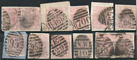 Great Britain - Group (12) 1873 - 80 / 2 1/2d Used on Piece - Lot 1020438