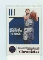 DOMANTAS SABONIS 2018-19 Panini Chronicles Red Parallel #D /149