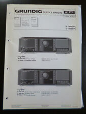 Original Service Manual  Grundig Fine Arts R 1000 DPL V 1000 DPL