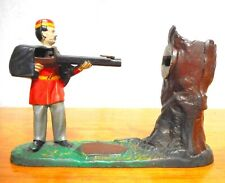 Antique Mechanical Bank Creedmoor Grenadier J.E. Stevens 1887 Beautiful Paint
