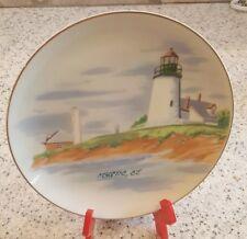 """Mystic Connecticut Lighthouse Collector Plate Souvenir by CAPE SHORE 7 3/4"""""""