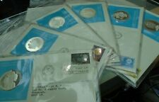More details for 1975 - 77 united nations official silver proof medal cover with stamps in sleave