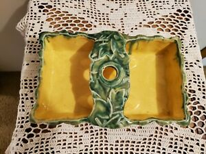 McCoy Centerpiece/Ashtray with Candle Holder