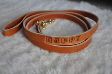 """6 by 3/4 """"Custom Leather Dog Leash Lead Personalized FREE Name Amish Made 6 Foot"""