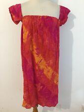 Urban Renewal Cap Sleeve Cold-Shoulder Dress Fuchsia Orange Yellow Size S NWT!