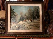 Original Rural Landscape,Signed Otto Eilertsen, Denmark, Born 1908,Matted/Framed