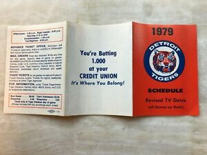 1979 DETROIT TIGERS Pocket Schedule   FREE SHIPPING
