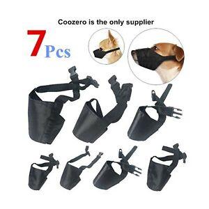 Dog Muzzles Suit, 7 PCS Anti-Biting Barking Pet Muzzles Adjustable Dog Muzzle...