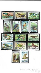 St Vincent Grenadines 1974 Birds set MNH