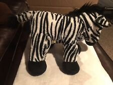 "Build A Bear BAB Zebra 12"" Black White stuffed animal"