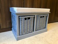 Storage Bench With Baskets Sturdy Hallway Cushion Seat Ready Assembled 2019