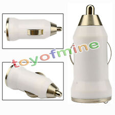 New USB Mini Car Charger Adapter Plug Accessory For iPhone 3 4 4S white