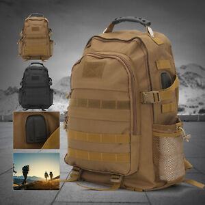 50L Rucksack  Herren Army Sporttasche Damen Outdoor Wanderrucksack Bag DE