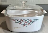 Vintage Corning Ware 5 Liter Casserole with Lid RoseMarie  A-5-B          IM0497
