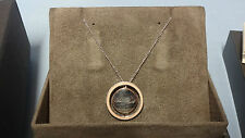"Welsh Clogau Silver & Rose Gold Love Circles Pendant 17"" Chain RRP £129 Type 2"
