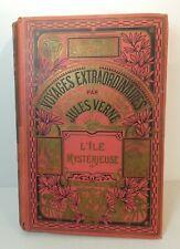 Jules Verne. L'Ile mystérieuse. illustré par Faivre éd. Hachette