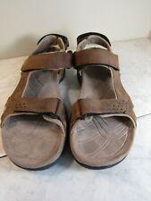 Teva 6101 Fossil Canyon Brown Leather Sandal Men's Shoes Size 9.5 EU 42.5