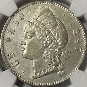 Dominican Republic 1897-A Peso NGC AU55