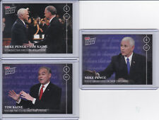 2016 Topps NOW Election16 3-Card Vice Presidential Debate Set Mike Pence PR 65
