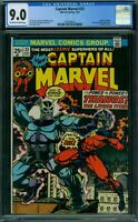 Captain Marvel 33 CGC 9.0 - OW/W Pages