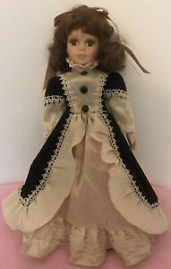 """Vintage Style China Doll By The Knightsbridge Collection, Boxed. Approx 16""""Tall,"""