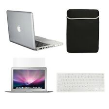 "4 in1 Crystal CLEAR Case for Macbook PRO 13"" + Keyboard Cover + LCD Screen+ Bag"