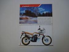 advertising Pubblicità 1988 MOTO HONDA XL 600 V TRANSALP