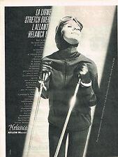 PUBLICITE ADVERTISING   1961   STRECH-OVER HELANCA   pour vetements de ski