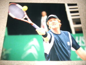Jim Courier Grand Slam French Open  Pro Tennis U.S.  8 x 10 Color Photo